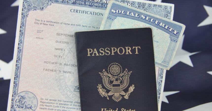paszport, social security, akt urodzenia, papiery